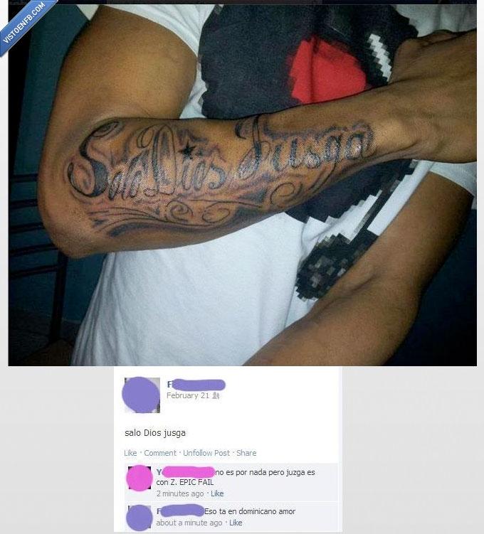 dios,Fail,jusga,solo,tattoo,Tatuaje