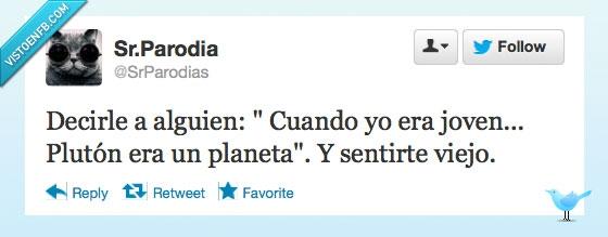 Planeta,Plutón,Twitter,Viejo