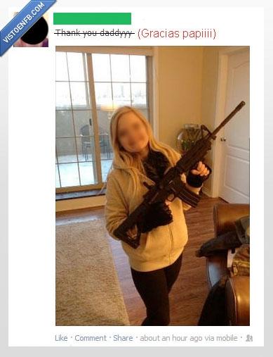 adolescente,ametralladora,armas,cumpleaños,metralleta,navidad,subfusil