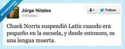 Enlace a Suspendió Latín y mira por @nitalesj
