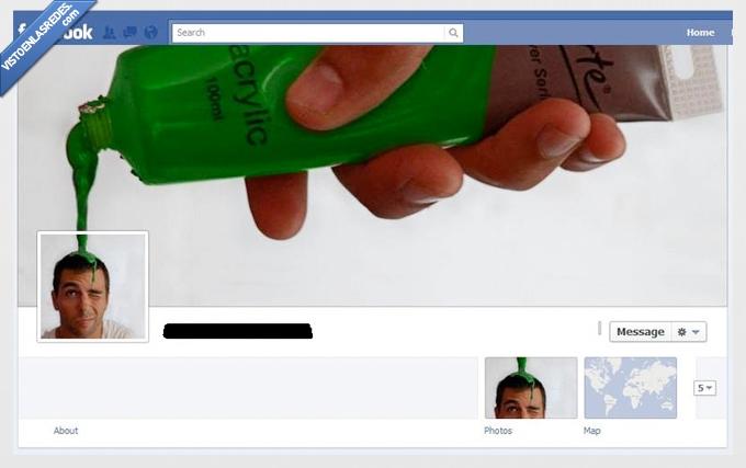 acrilico,chorro,facebook,foto de portada,pintura,verde