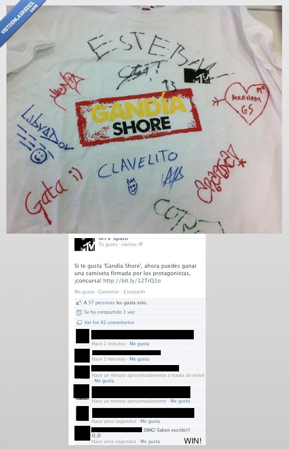 camiseta,concurso,escribir,facebook,firmar,gandia shore,saben,saber