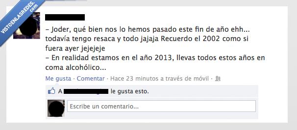 2013,beber,coma,etilico,resaca