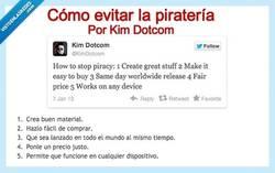 Enlace a Cómo evitar la piratería por @kimdotcom