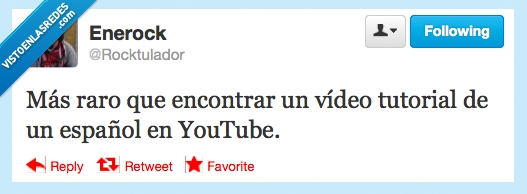 español,raro,tutorial,vídeo,youtube