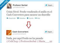 Enlace a Confirmado, el Anillo Único sigue con Frodo por @profesorserbal y @cashconvertersE