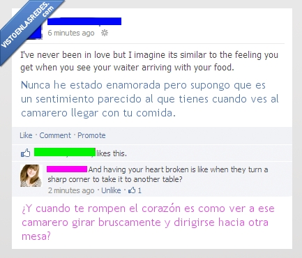 amor,camarero,comida,comparaciones,facebook