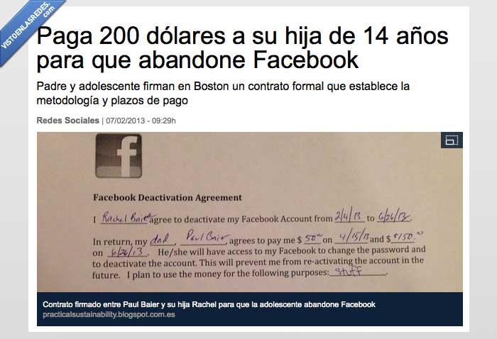 contrato,dinero,dolares,facebook,firmar,hija,noticia,padre