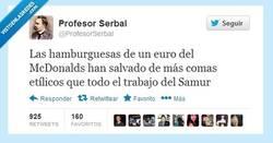 Enlace a Dadme una hamburguesa y moveré el mundo por @profesorserbal