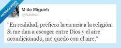 Enlace a Ciencia vs Religión por @waidelai