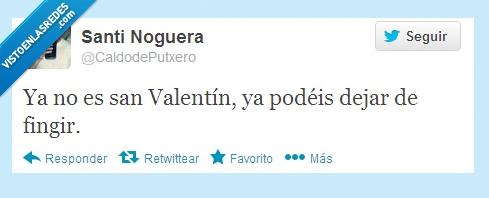 felices,fingir,parejas,Twitter,Valentín