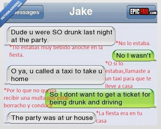 borracho,casa,fiesta,propia,taxi,volver,whatsapp