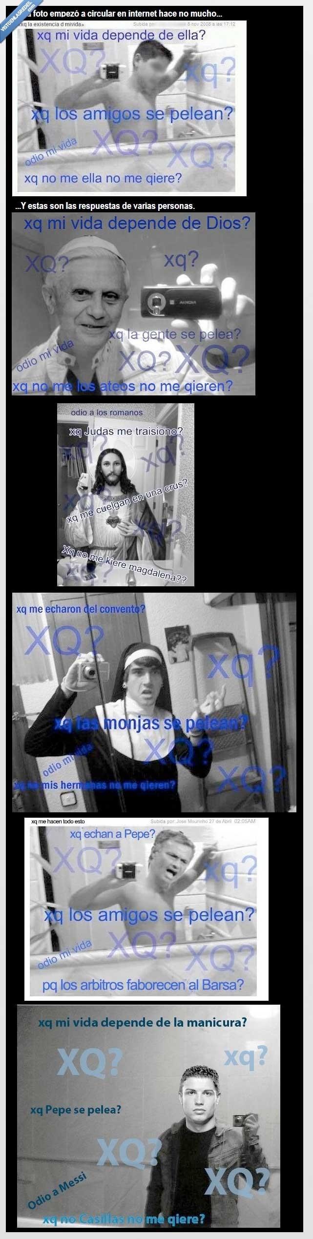 cristiano ronaldo,foto,jesus,monja,montaje,papa,vida,xq?