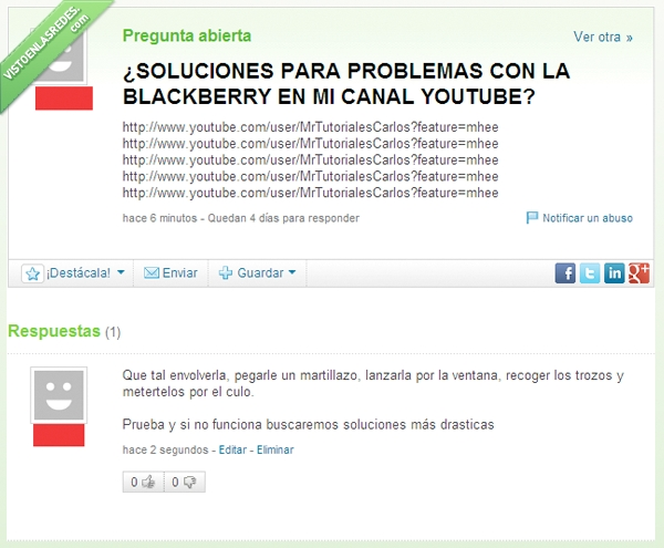 blackberries del infierno,blackberry,envolver,martillazo,meter,romper,trapo,trozo,youtube