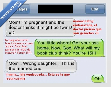 15 años,casada,club de lectura,embarazada,embarazo,gemelo,hija,madre