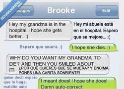 Enlace a Abuela enferma, espero que se muera...