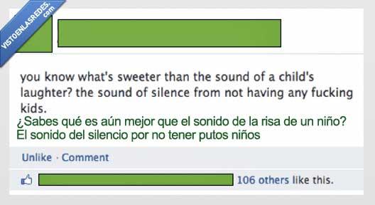 hijo,niño,risa,silencio,sonido