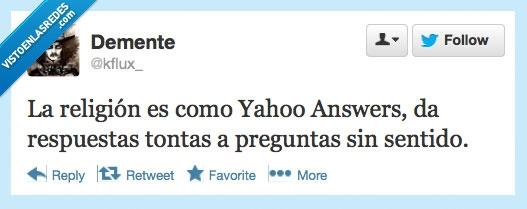 Answer,Humor,jajajajaa,Preguntas,Religion,Tontas,Tonteria,Twitter,Yahoo