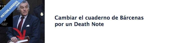 Barcenas,Cuaderno,Death Note,PP