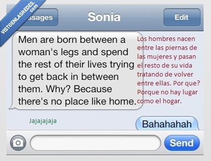 hogar,hombres,madre,mujeres,piernas,vida,volver,whatsapp