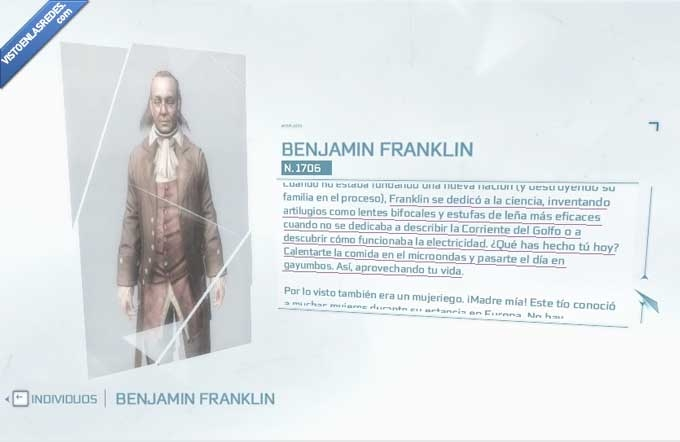 assassins creed,benjamin,franklin,juego,troll