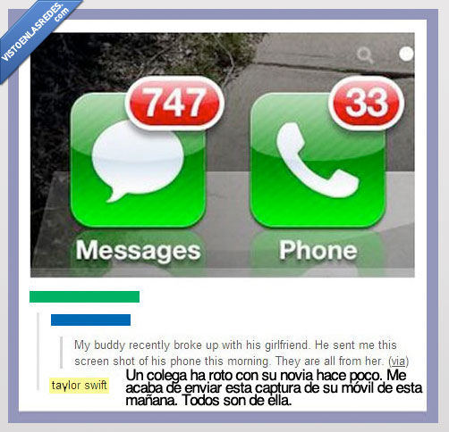 ex,llamada,loca,mensaje,muchos,novia,obsesionada,perdida,taylor swift,whatsapp