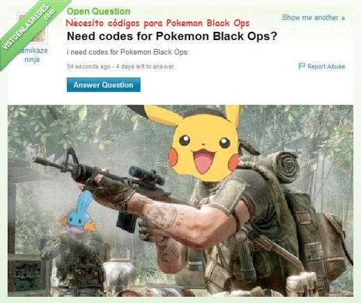 black ops,call of duty,cheto,codigo,pikachu,pokemon