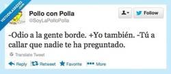 Enlace a Qué asco de bordes... por @SoyLaPolloPolla