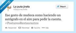 Enlace a Pedir la cuenta por @SoyUnaJirafa