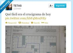 Enlace a El As de los crucigramas por @unelar