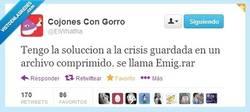 Enlace a La solución a la crisis por @elwhatha