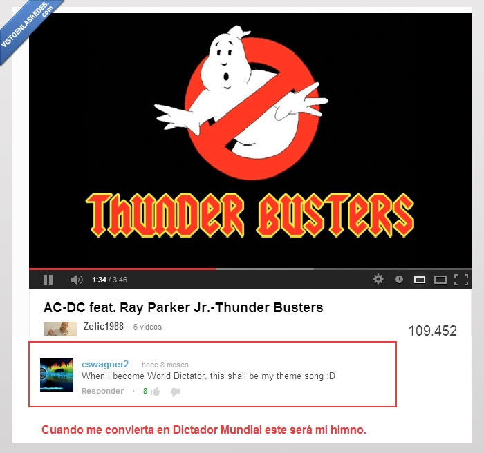 cancion,Dictador Mundial,himno,ThunderBusters,Youtube