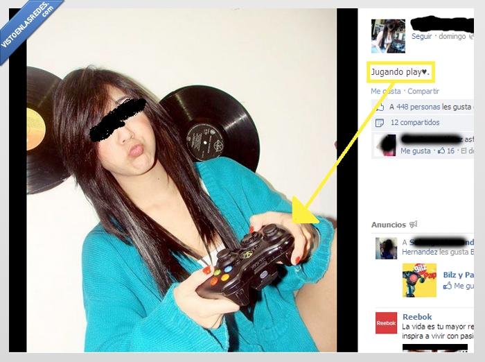chica,Gamer,mando,Play,Xbox