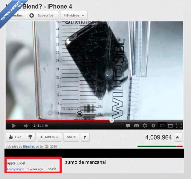 apple,iphone,licuadora,logica,youtube
