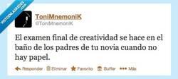 Enlace a El examen final de Creatividad por @ToniMnemoniK