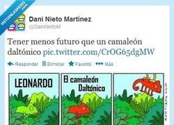 Enlace a Tener menos futuro que un camaleón daltónico por @DaniNietoM