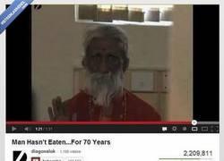 Enlace a Hombre no ha comido en 70 años