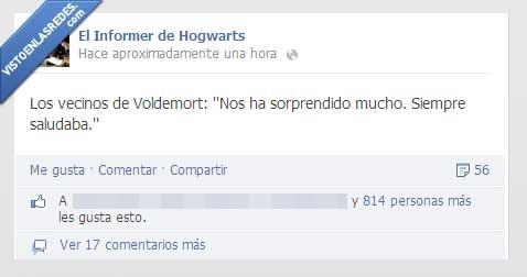 Hogwarts,Informer,saludar,vecinos,Voldemort