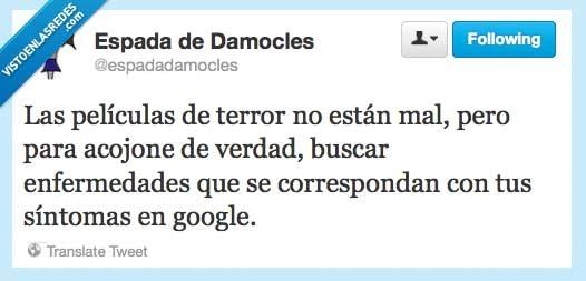 enfermedad,google,miedo,muerte,pelicula,síntomas,terror