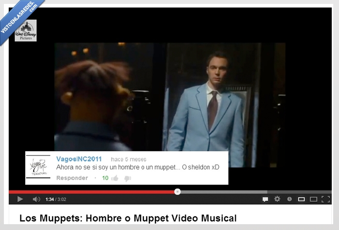 hombre,jim parsons,Los Muppets,real,Sheldon Cooper,video