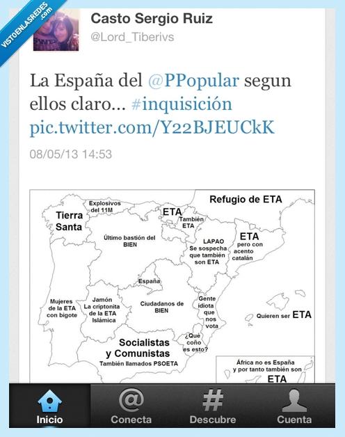 asco de pais,España,españistan,ETA,mapa,partido popular,politicos,pp,rajoy