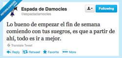 Enlace a Ya llegó el finde por @espadadamocles