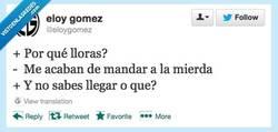 Enlace a ¿Por qué lloras? por @eloygomez