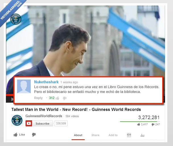 Biblioteca,Guinness,libro,Record,Youtube