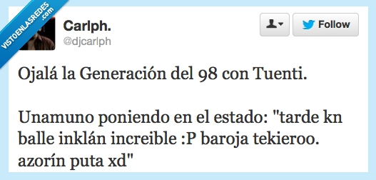 355449 - Generación del 98 con Tuenti por @djcarlph