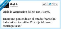 Enlace a Generación del 98 con Tuenti por @djcarlph
