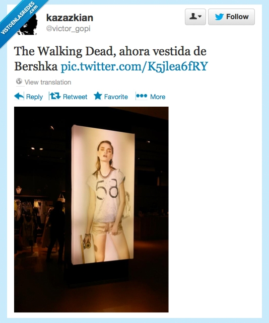 Bershka,caminante,kazazkian,moda,modelo,The Walking Dead,zombie