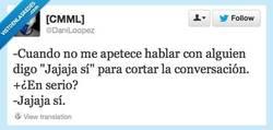 Enlace a Cortar rápidamente una conversación por @daniloopez
