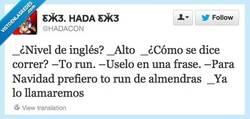 Enlace a Perfecto inglés, of course por @hadacon