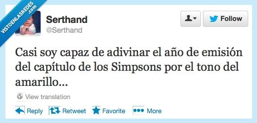 amarillo,año,color,emision,humor,Simpsons,temporada,tono,Twitter